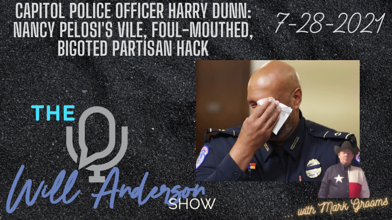 Capitol Police Officer Harry Dunn: Nancy Pelosi's Vile, Foul-Mouthed, Bigoted Partisan Hack