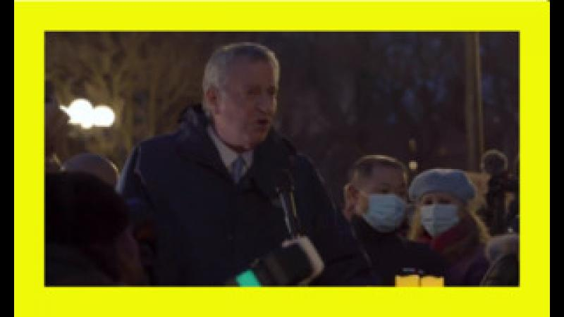 De Blasio Chased Away From Anti-Asian Crime Vigil