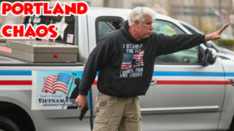 Portland Residents About To Run Over amp; Shoot Antifa Lunatics