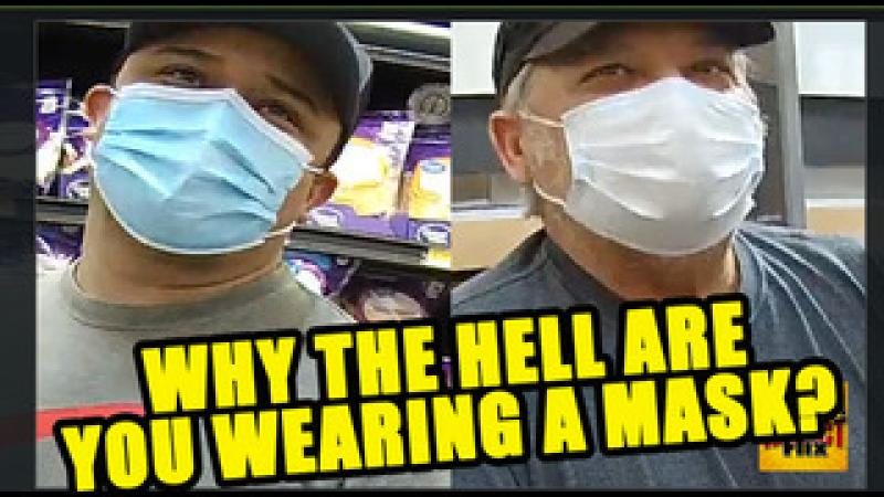 Asking People in WalMart Why They#x27;re Still Wearing Masks!?