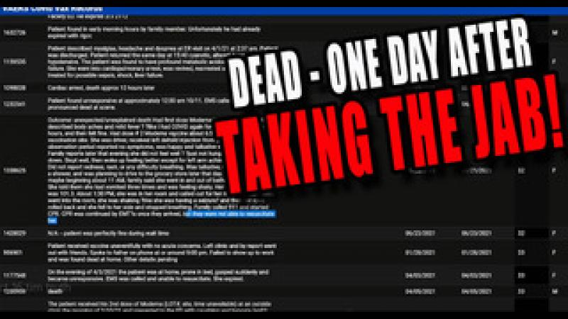 CDC#x27;s Own Crazy LOOONG List of People Who Died less than 24 HOURS After Getting the Vaccine!!