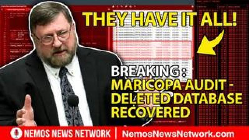 BREAKING : Maricopa audit - Deleted database recovered. They have it all!