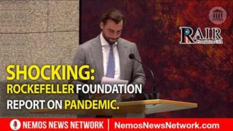 Shocking: Dutch MP, Thierry Baudet Reads 2010 Rockefeller Foundation Report On Pandemic.