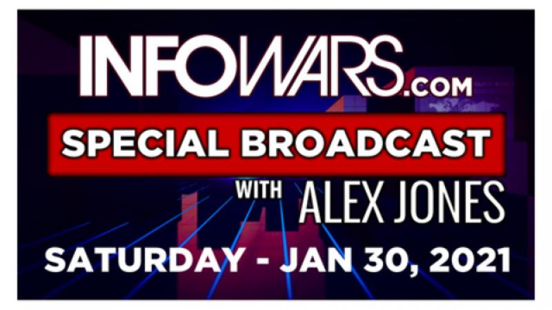 ALEX JONES SPECIAL Saturday 1/30/21 • PLANET LOCKDOWN Censored Documentary, STEWART RHODES • Infowar