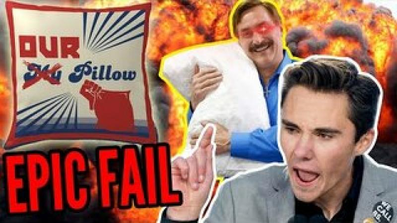 David Hogg LOSES Pillow Fight Against Mike Lindell, Good Pillow Gets CRUSHED by MyPillow