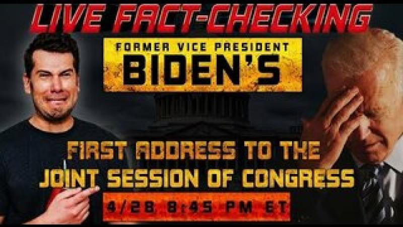 LIVE FACT-CHECK! Biden#x27;s First Address Before The Joint Session of Congress | Louder with Crowder