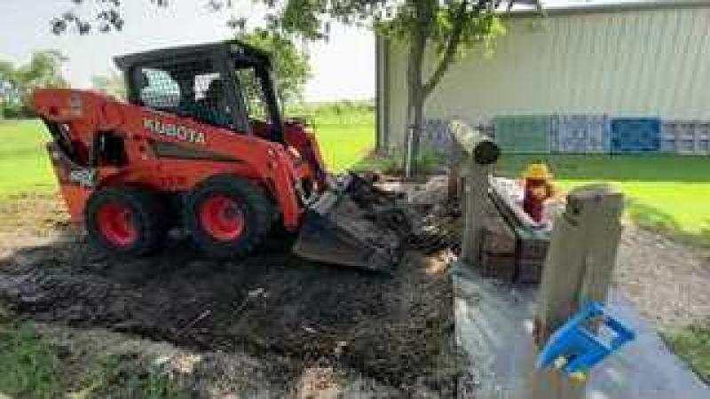 Concrete Pads Being Put For Horse Areas amp; Mud Areas - Complete Project 1 of 3