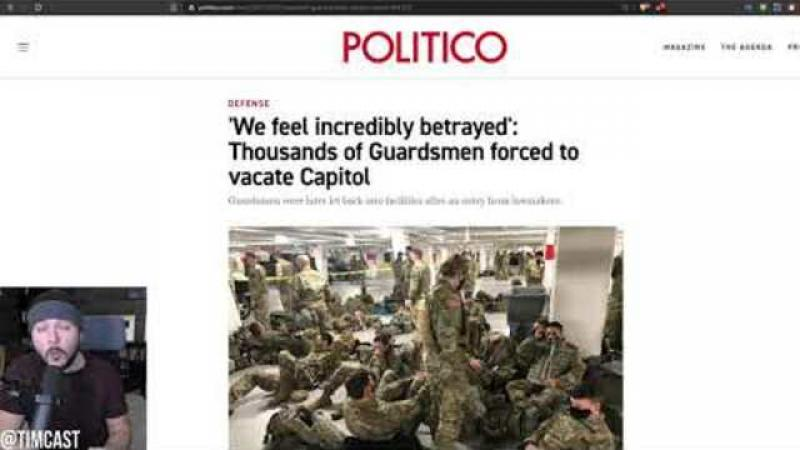 National Guard Forced To Sleep In Parking Garage After Defending Capitol, Dems And GOP Are Furious