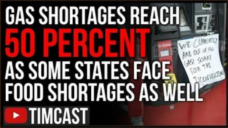 Fear of Runaway Inflation As Local News Reports Food Shortages, Gas Shortage In Some States Near 5..