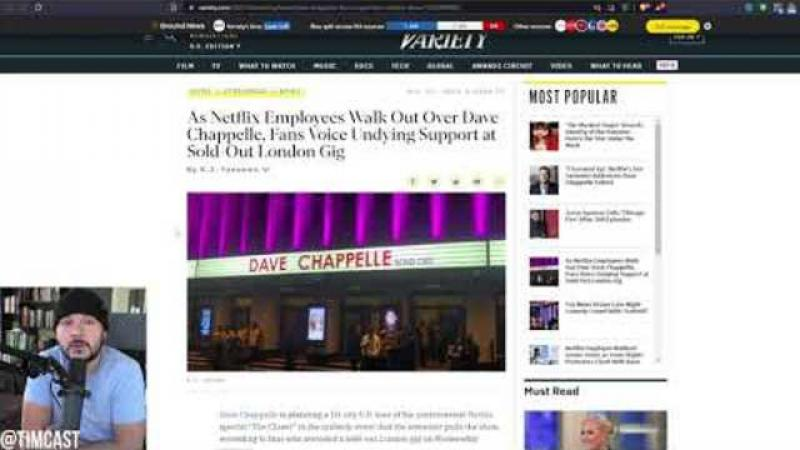Deranged Leftist Netflix Employees ATTACK Dave Chappelle Fan, Dave Responds Says He Will Fight Bac..