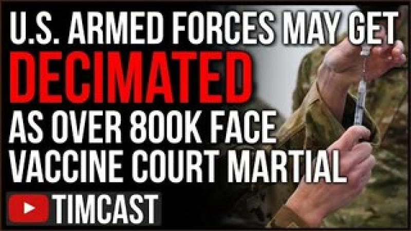 Over 800,000 Servicemen Face Court Martial For Not Getting Mandatory Vaccine, Biden Admin Under Fi..