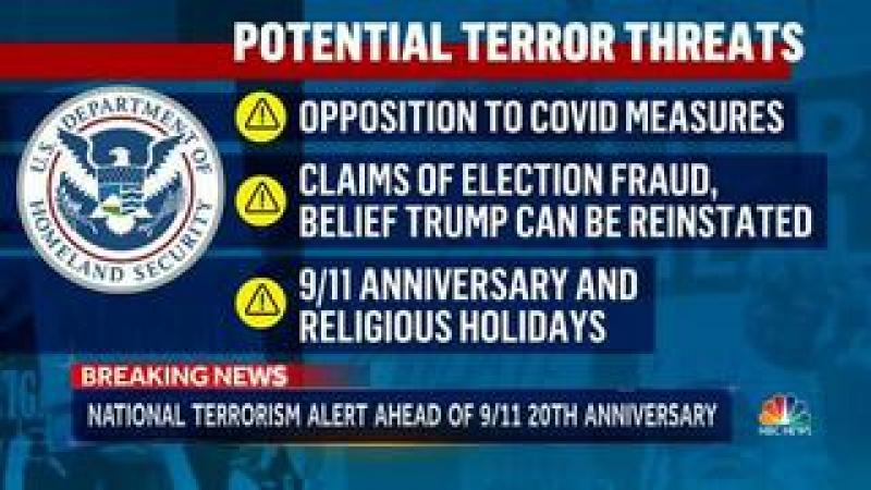 Opposition To Covid Measures Is Domestic Terrorism According To DHS